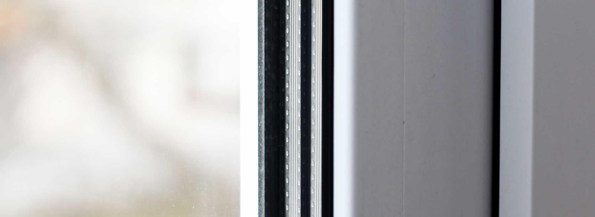 close up shot of double glazed windows