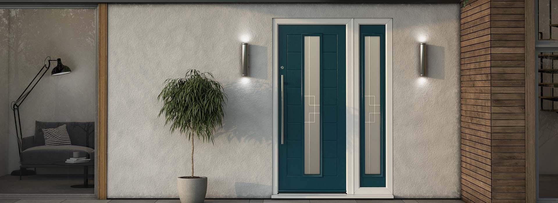 modern-composite-door-on-home-in-dark-blue